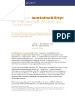 Investing in Sustainability an Interview With Al Gore and David Blood