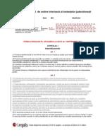 REGULAMENT de Ordine Interioara a Instantelor Judecatoresti Forma Consolidata 1 Septembrie 2012