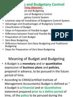 Budgetring Control