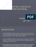 Latex Modified Concrete as Repair Material