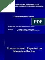 Comportamento Espectral de Minerais e Rochas e Comportamento Espectral Dos Solos