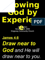 11-08-2009 Knowing God by Experience