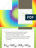 Acid –Base Reaction