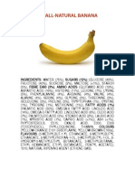 Ingredients of a Banana Poster