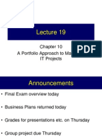Lecture 19 - IT Portfolio Management