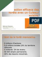 Cuiseur solaire pour la forêt marocaine.