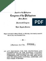 RA 10066 Heritage Law