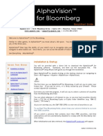 Alpha Vision 2 0 Quick Start Guide for Bloomberg