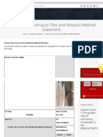 Ceramic Tiles, Terrazzo Tiles and Mosaics Method Statement _ Planning Engineer