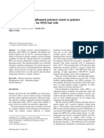 Thermal analysis of sulfonated polymers tested as polymer electrolyte membrane for PEM fuel cells Online -Thermal Analysis