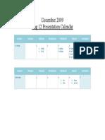 Eng 12 Presentation Calendar