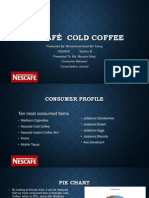 Consumption Journal Presentation Nescafé Cold Coffee (Muhammad Asad Bin Faruq)