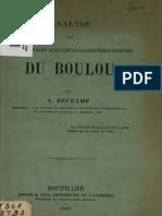 Bechamp Antoine - Analyse Des Eaux Minerales Acidules-Alcalines-ferrugineuses Du Boulon