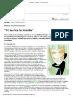 """Página_12 __ Psicología __ """"Yo Nunca Te Miento"""""""