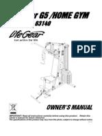 63140-Lifegear G5 Home Gym Manual