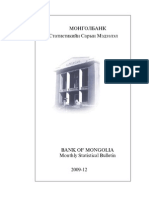 Mongol Bank Statistics 2009.12