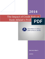 The Impact of Credit Risk on Bank Alfalah Upload