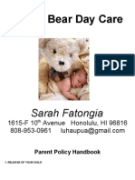 Teddy Bear Day Care Packet-PDF