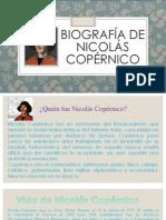 Biografia de Nicalás Copérnico