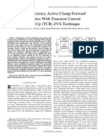 High-Efficiency Active-Clamp Forward Converter With Transient Current Build-Up (TCB) ZVS Technique