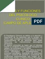 Roles y Funciones Del Psicologo Clinico