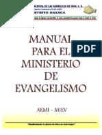 102319213 MANUAL Para El Ministerio de Evangelismo