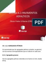 3.3-. Obras Viales Urbanas (CRO101) Pavimentos Asfalticos - Agregados Petreos