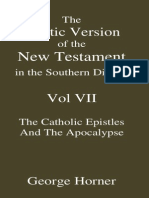 The Coptic Version of the New Testament in the Southern Dialect Vol VII Cath-Rev Horner
