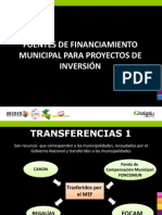 Ppt Fuentes de Financiamiento Municipal Para Proyectos de Inversion