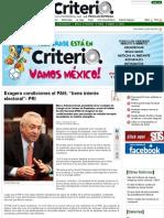 """19-06-14 Exagera condiciones el PAN; """"tiene interés electoral"""""""