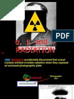 Alpha, Beta Gamma Radiation