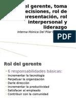 Roles de Gerente Toma de Decisiones Rol de Representacion Rol Interpersonal Liderazgo_MonicaMoreno