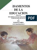 FUNDAMENTOS DE LA EDUCACIÓN para el desarrollo de las capacidades y habilidades humanas 2