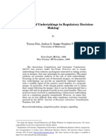 The Role of Undertakings in Regulatory DecisionMaking*