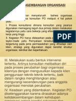 Kuliah 7 Pengembangan Organisasi April 2014