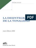 La Desintegración de La Tonalidad - Fundación Juan March