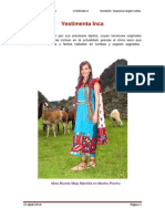 Vestimenta Inca Flor Cruz Escalon