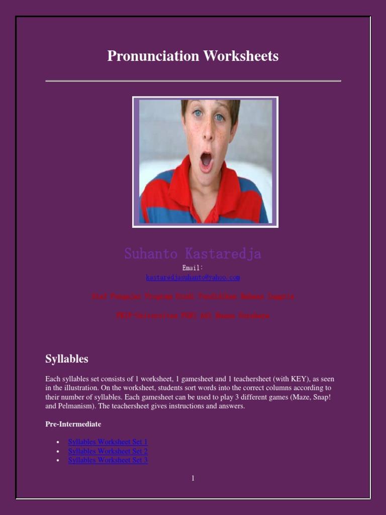 Workbooks pronunciation key worksheets : Pronunciation Worksheets | Verb | Noun
