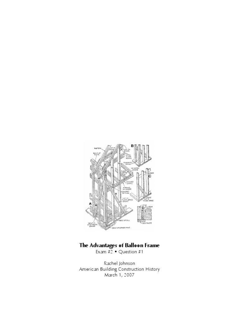 Balloon Framing | Framing (Construction) | Art Media