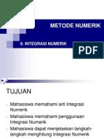 9. Integrasi Numerik