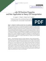 Crude Oil Emulsion Propierties