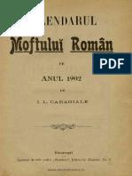 """Calendarul """"Moftului Român"""" Pe Anul 1902, 01, 1902"""
