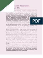 Especialización Docente en Educacion y TIC. Ayala; Germano; Gonzalez.