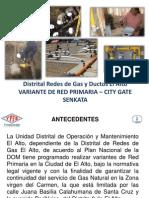 Presentación Distrital Redes de Gas El Alto Variante Senkata
