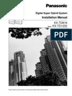 KX-TD 816 - 1232 Installation Manual Ver 6