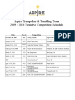 Aspire Trampoline and Tumbling Competition Schedule