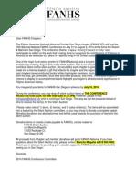 #FANHS2014 National Silient Auction Letter