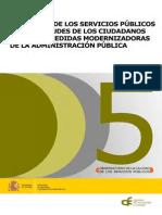 Informe Percepcion Servicios Públicos (2013). AEVAL