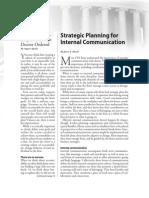 Strategic Planning in Internal Comm