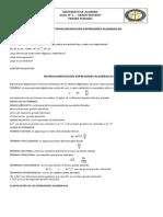 Guía 1; Expresiones Algebraicas